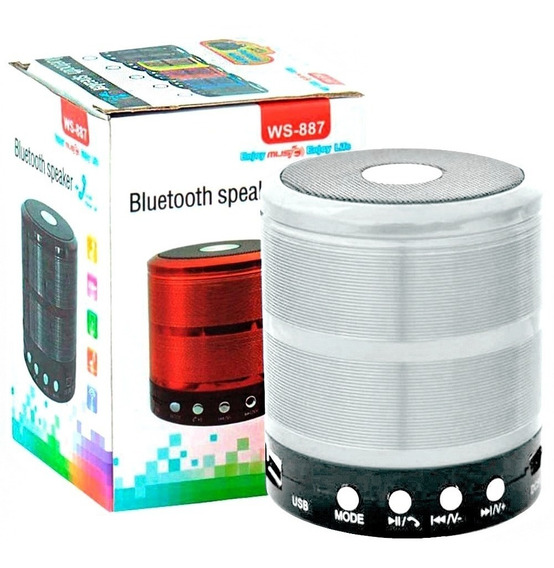 Mini Caixa Caixinha Som Portátil Bluetooth Mp3 Fm Sd Aux Usb