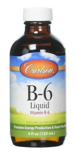 Carlson Labs B6 Liquido Apoyo Sist Cardiovascular Y Nervioso