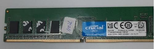 Memória Ram 4gb Ddr4 Crucial Ct4g4dfs824a Usado