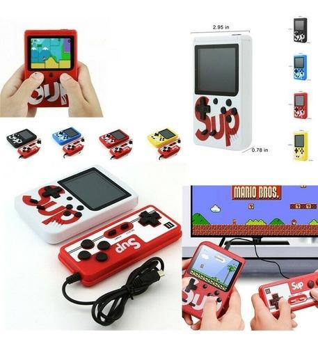 Mini Consola Con 400 Juegos Retros Con Control Adicional