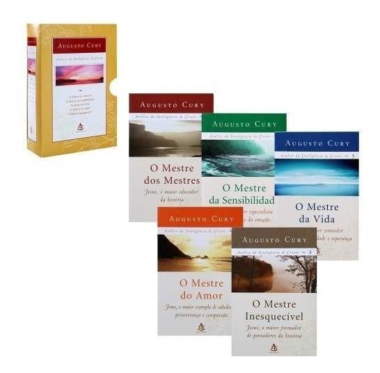 Box 5 Livros Augusto Cury- Análise Da Inteligência De Cristo