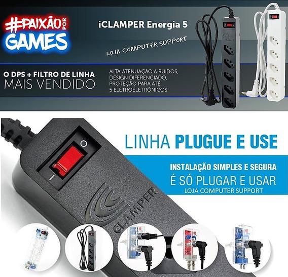 Filtro Clamper Pc Gamer Bivolt 127 /220v - 1270w / 2200w