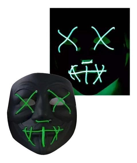 Mascara La Purga Luz Led Terror Halloween Palermo Z Norte
