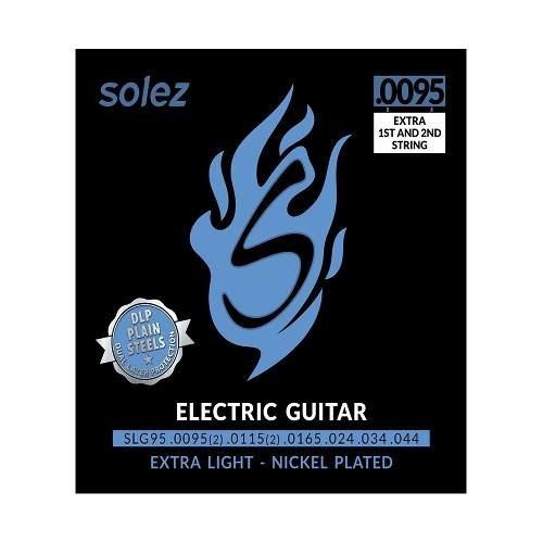 Imagem 1 de 4 de Encordoamento Híbrido Guitarra Solez 009,5 C/ 2 Cordas Extra