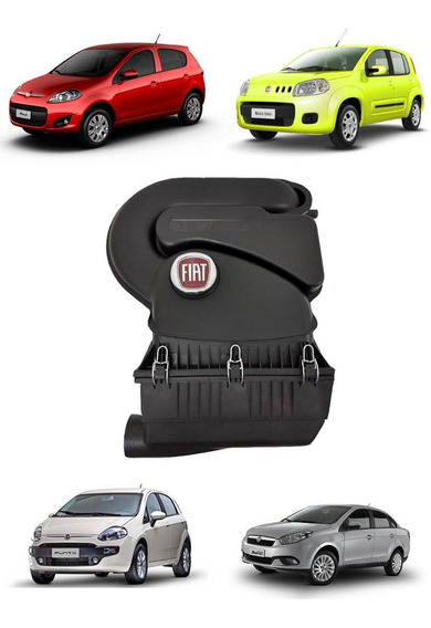 Filtro De Ar Original Fiat Uno Way Com Emblema E Tampa 2012