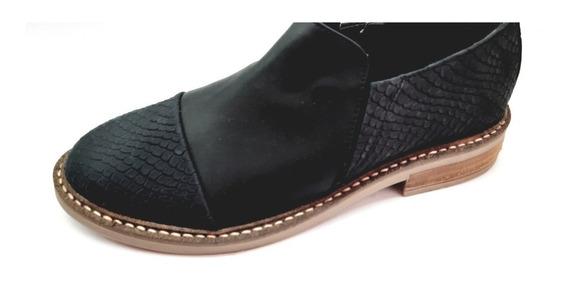 Zapatos De Cuero Abotinadotemp 18/19 * Angel Bs.as *