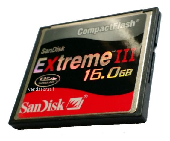 Frete Grátis! - Cf Cartão Compact Flash 16gb Extreme3