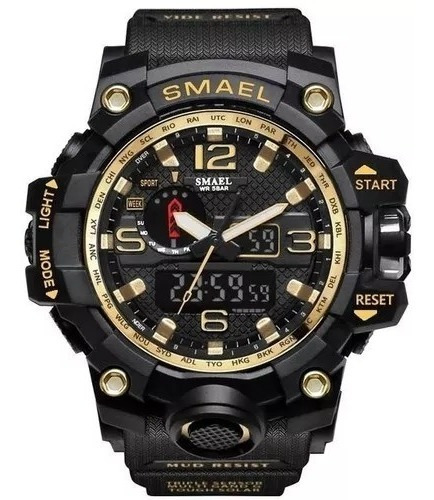 Relógio Smael 1545 Esportivo Militar Á Prova D