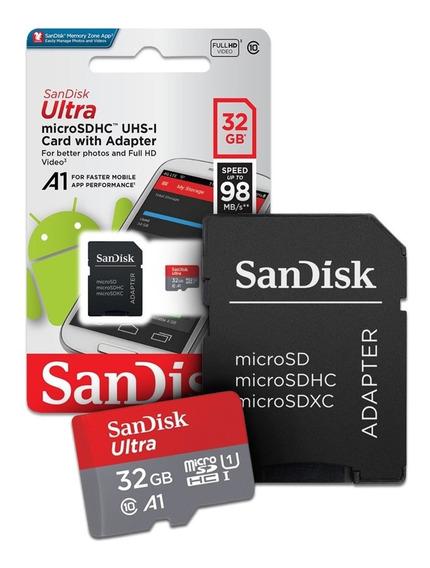 Cartão De Memória Microsd Sandisk Ultra 32gb