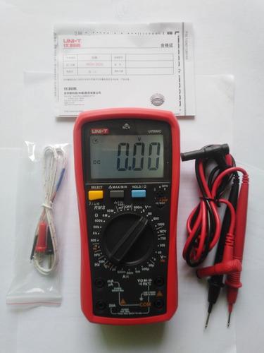 Imagen 1 de 5 de Multímetro Automotriz Unit - Ut890c