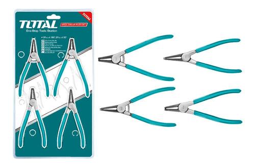 Juego 4 Alicates De Punta Mix. Total Tools/int-ext/7 (180mm)