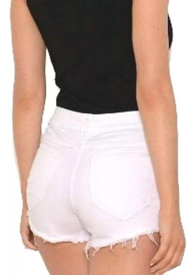 Short Jeans Tiro Alto Mujer Varios Colores Talles Del 36 /46