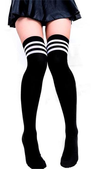 Calcetas Largas Blanca Lolita Moda Japonesa Kawaii Unitalla