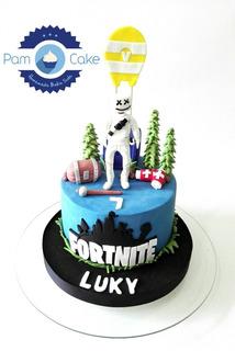 Torta Artesanal Personalizada Fortnite Marshmello