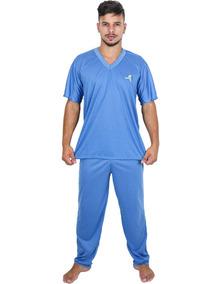 066b147b7769a2 Kit 4 Pijama Longo Adulto Masculino Manga Curta Calça Longa