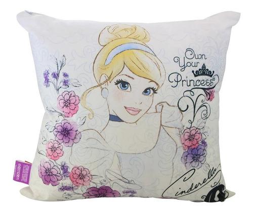 Almofada Veludo 40cm X 40cm Princesas Disney Cinderela
