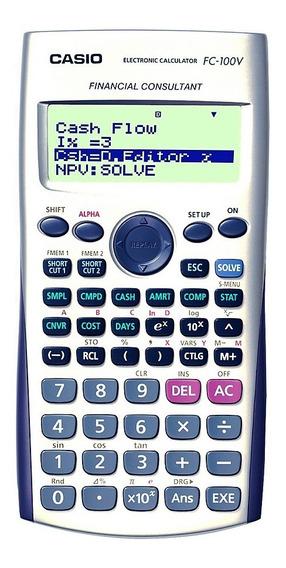 Calculadora Financiera Casio Fc-100v 4 Lin 10+2 Dg.