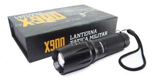 Lanterna Tatica Militar X 900 Recarregavel Police Com Zoom F