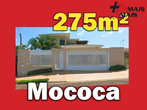 Casa Em Mococa, Com Escritório, Varanda Com Vista, Área Gourmet, Mezanino. - Mococa12a