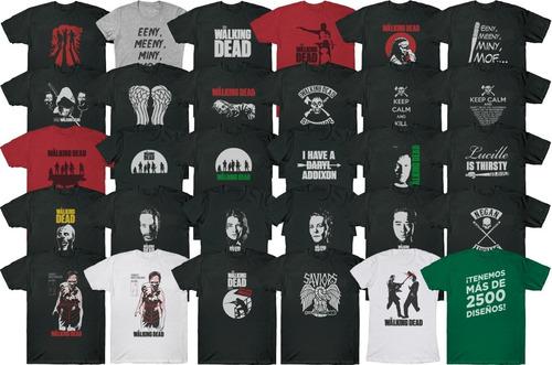 Remeras The Walking Dead, Zombis, Personalizadas, Estampadas