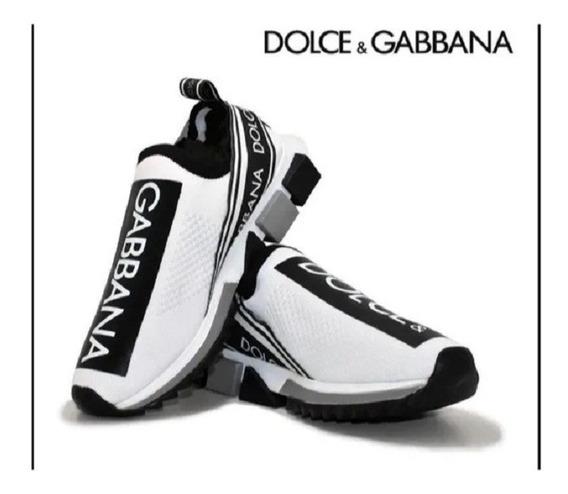 Tenis Masculino Dolce Gabbana Branco Lançamento 2020+brinde