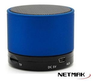 Parlante Portable Bluetooth Micro Sd Azul Netmak Tienda