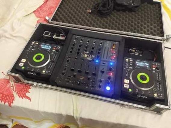 Cdjs Denon 1200 Dn-s E Mixer Bheringuer Djmx 750 Pro Na Case