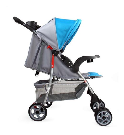 Carrinho De Bebê E Passeio Esmeralda Azul Baby Style