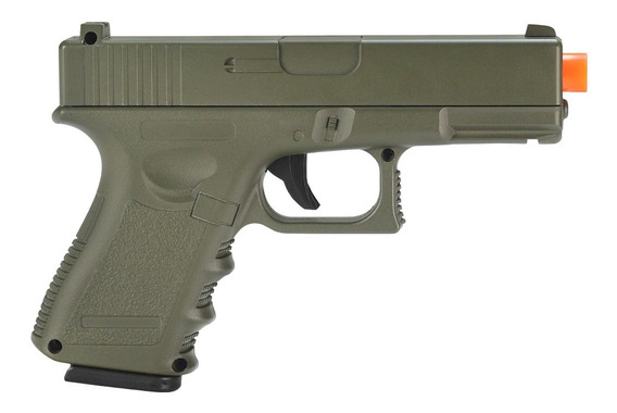 Pistola De Airsoft Spring G15g Green Full Metal 6mm - Galaxy