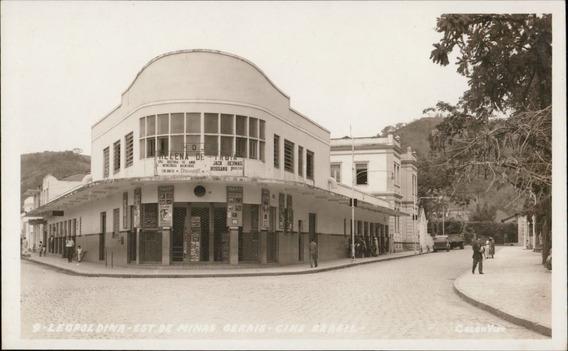 Cartão Postal Antigo Leopoldina Mg Cine Brasil