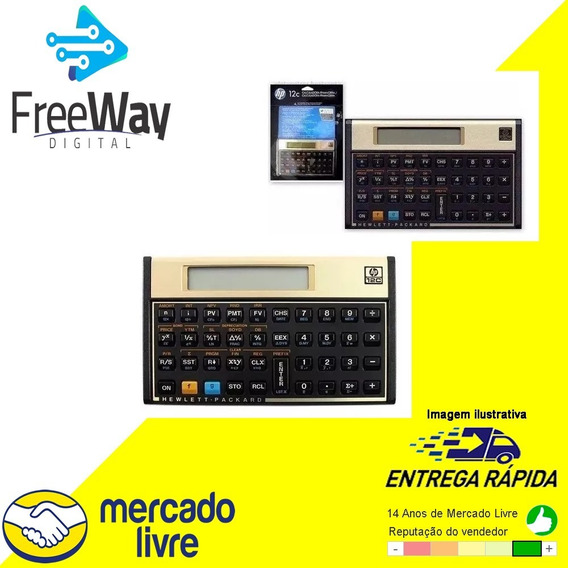 Calculadora Financeira Hp 12c Gold Original Lacrada C/ Nota