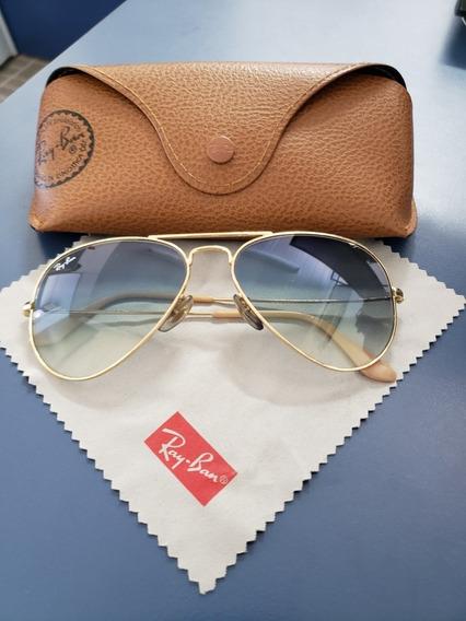 Óculos Ray Ban Aviador Pequeno Usado