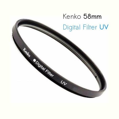 T6i - Kit C/ 3 Filtro Lente 58mm Uv Kenko Protetor P/ Canon
