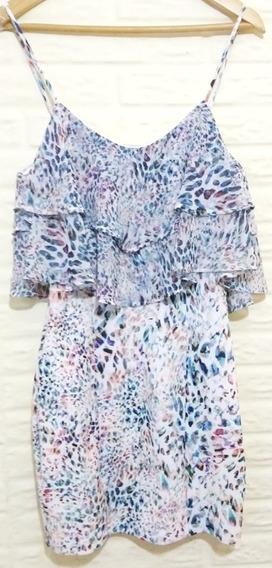 Vestido Studio F Talla 12 Anial Print Azul Garciamarie