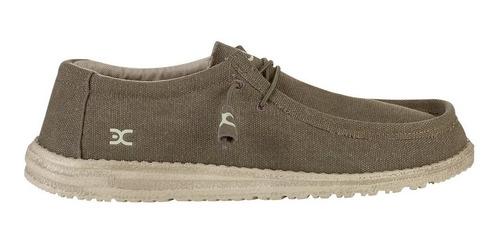 Zapatos Hombre Hey Dude Wally Olive