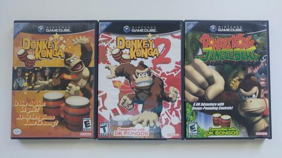 Donkey Konga 1 + Donkey Konga 2 + Donkey Kong Jungle Beat!!