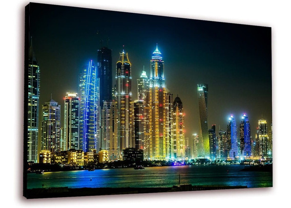 Cuadro 50x30cms Decorativo Dubai At Night