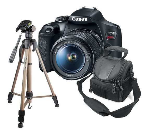 Kit Câmera Canon T7 + Tripé Para Fotografia + Bolsa Ded