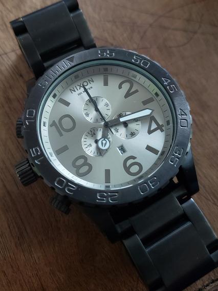 Relógio Nixon Cronografo Black Steel