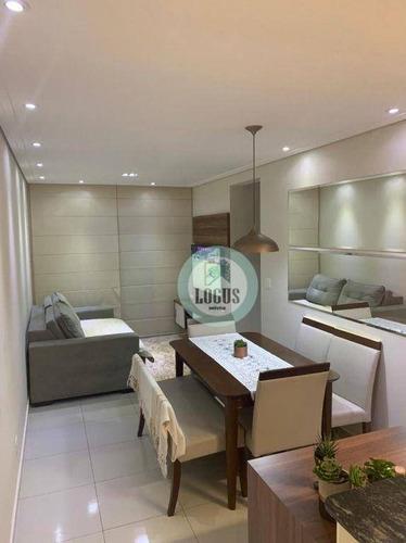 Imagem 1 de 19 de Apartamento Impecável De 46m² Composto Por 2 Dormitórios Sendo 1 Suíte, À Venda Por R$ 350.000,00 - Paraíso - Santo André/sp - Ap1785