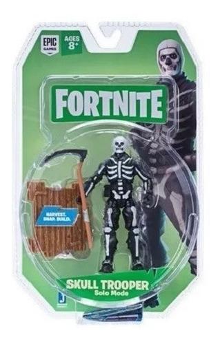 Fortnite - Skull Trooper Articulado 10cm Original - Fnt0073