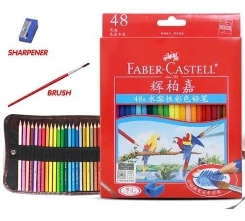 Set 48 Lápiz Faber Castell De Colores Dibujo Acuarelable Caj