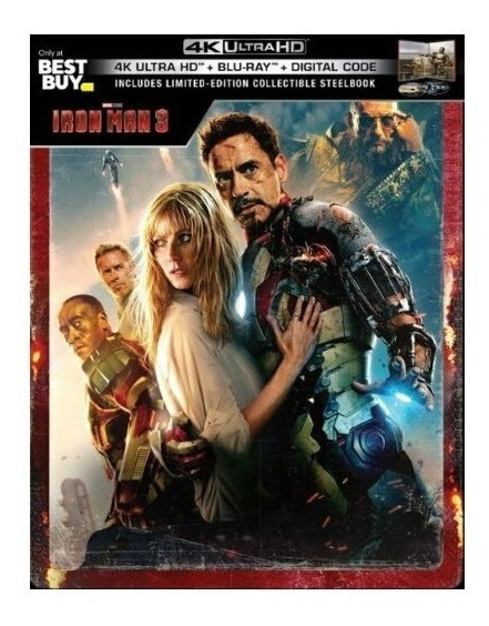 Iron Man 3 Marvel Target Steelbook Pelicula 4k Ultra Hd