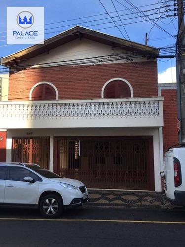 Imagem 1 de 19 de Casa Com 5 Dormitórios Para Alugar, 192 M² Por R$ 2.200,00/mês - Centro - Piracicaba/sp - Ca0899