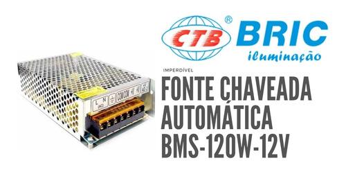 Fonte Colmeia Chaveada 10a 120w 12v Automática Bms-120w-12v
