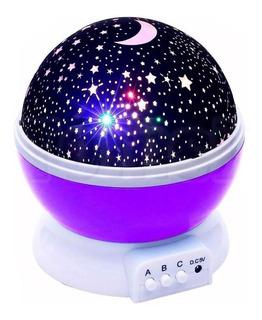 Lámpara Proyector Led Estrellas Luz Noche Niños Recamara