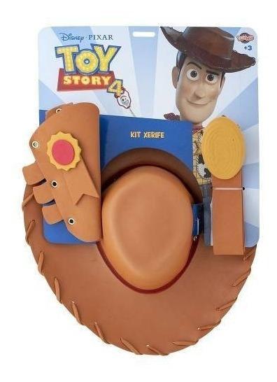 Kit Acessórios Toy Story 4 Woody Xerife - Toyng 36640