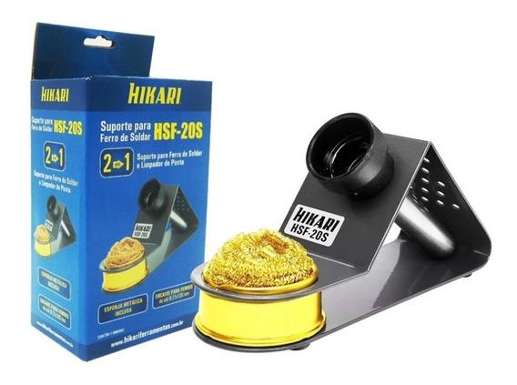 Suporte De Ferro Com Esponja De Metal Hikari - Hsf-20s