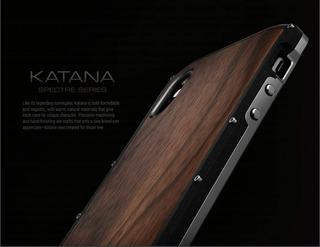 Capa Case iPhone Xs Xs Max Elementecase Katana Madeira Metal