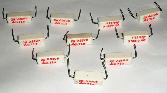 Resistor De Porcelana Kit 10 Peças 2w - 0,33k Q712